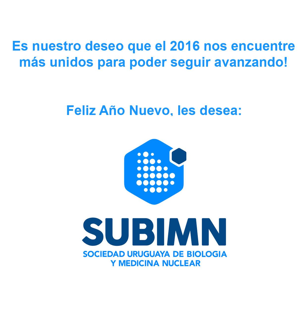 Feliz 2016 SUBIMN
